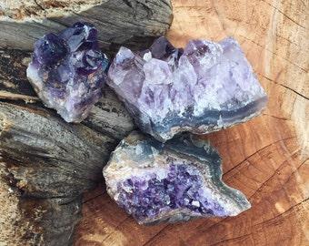 50% off FLASH SALE - Small Amethyst Clusters - Raw Amethyst - Purple Geodes - Purple Druzy - Lot 2