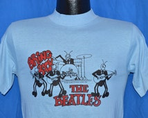 70s Bring Back the Beatles David Peel 1976 Rock Album Light Blue Vintage t-shirt Small