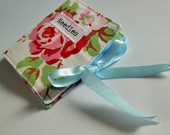 Sewing Needle Case with Vintage Florals