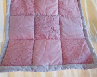 Pink mini quilt