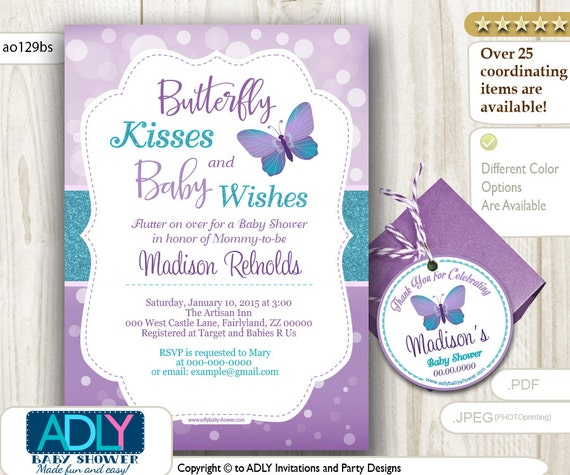 Purple Butterfly Baby Shower Invitations is the best ideas you have to choose for invitation example