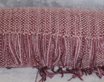 Amethyst - Hand woven merino wool, mohair, and Tencel blend scarf