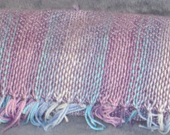 Sweet Pea - handwoven cotton and bamboo scarf - sold to Julie's friend
