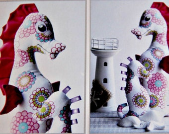 Sammy Seahorse Pattern by Paula Storm Designs, Softie Toy for Baby, Baby Toy, Animal Softie Pattern, Australian Designer