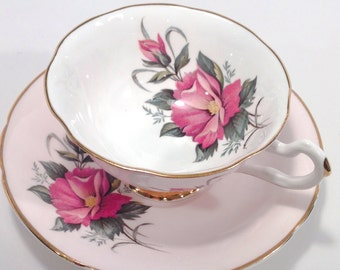 Vintage Crownford Fine Bone China Tea Cup and Saucer made in England