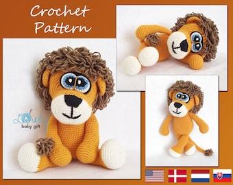Crochet Pattern, Amigurumi Lion, Stuffed Animal, CP-119