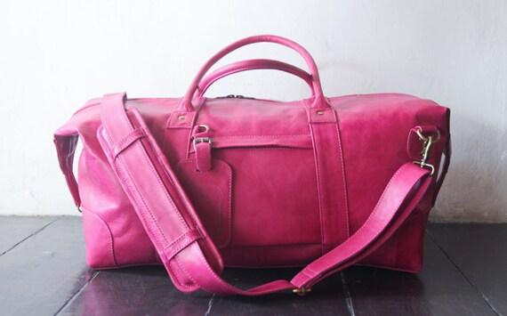 weekend bag shoulder bag handmade leather bag message bag