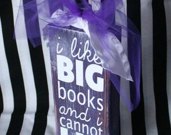 i like big books- wooden block