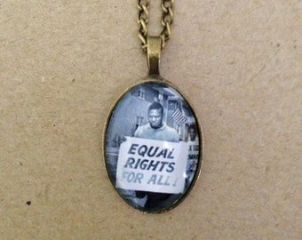 Equal Rights Necklace - Handmade Unique (FREE or LOW COST shipping)
