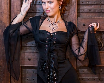 Classic Kellyann Bolero Steampunk clothing - Steam punk for prom wedding LARP costume and cosplay
