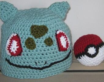 Bulbasaur Hat w/free Pokeball