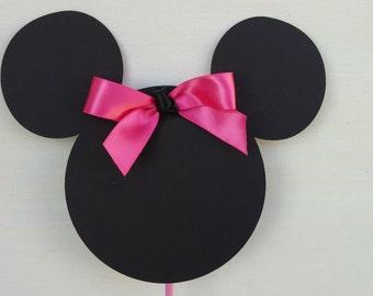 Minnie head silhouette