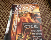 Vintage Victoria Magazine Sept 1995 Following Your Heart Home Fall Decorating Home Designs Recipes Autumn  Classic Magazine Two Available