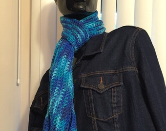 Multicolor blue scarf