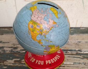 The Ohio Art Co World Bank As you save so you Prosper 5 Inches Tall Bank
