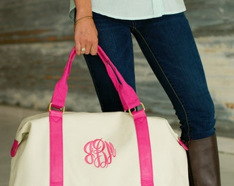 Personalized  Weekender Travel Bag. Monogram weekend Bag. Great bridesmaids Gift!