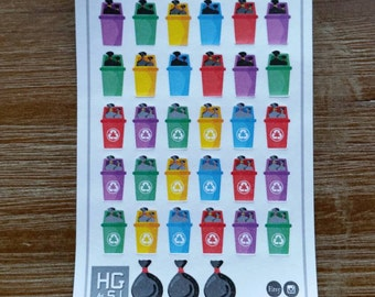 Trash and Recycle Planner Stickers - S010