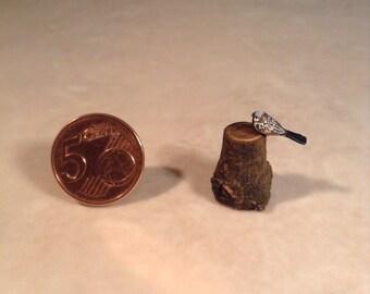 Miniature bird  made of wood
