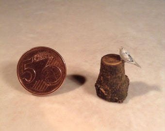 Miniature bird  made of wood