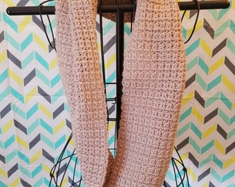 Baby Taupe Infinity Scarf - lightweight pale brown infinity scarf