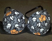 Items similar to Nightmare before Christmas bra with different ...