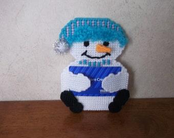 Snowman gift card holder