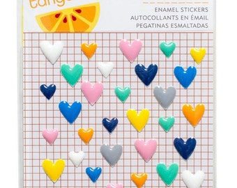 Amy Tangerine Finders Keepers Enamel Heart Stickers, Planner Stickers, Planner Decor, Life Planner Stickers, Planner Accessory, Card Making