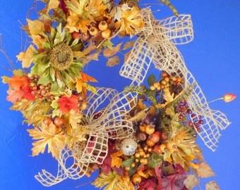 """Autumn Splendor 24""""  Fall Wreath for Whimsical Wreaths"""