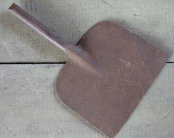 Vintage Forged Hoe or Scraper, solid handle