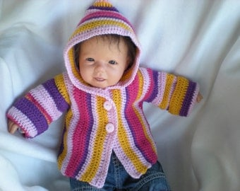 Crochet Tutorial Hooded Jacket Pattern