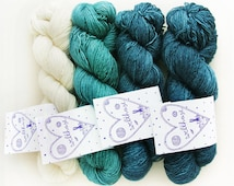 KIT für SIAM LOVE Private Ocean ctns: 350g welthase ml fingering yarn (colours see below) 1 digital pattern and 1 welthase canvas bag