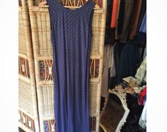 90's print long dress
