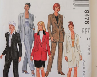 McCall's Sewing Pattern 9476 Misses' Jacket, Pants and Skirt in Size 10, 12, 14.