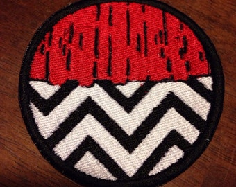 Twin Peaks Black Lodge Red Room Embroidered Patch