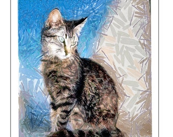 Cats of Greece - Teris From Tinos' - Set of 6 blank notecards and envelopes by Doggylips …
