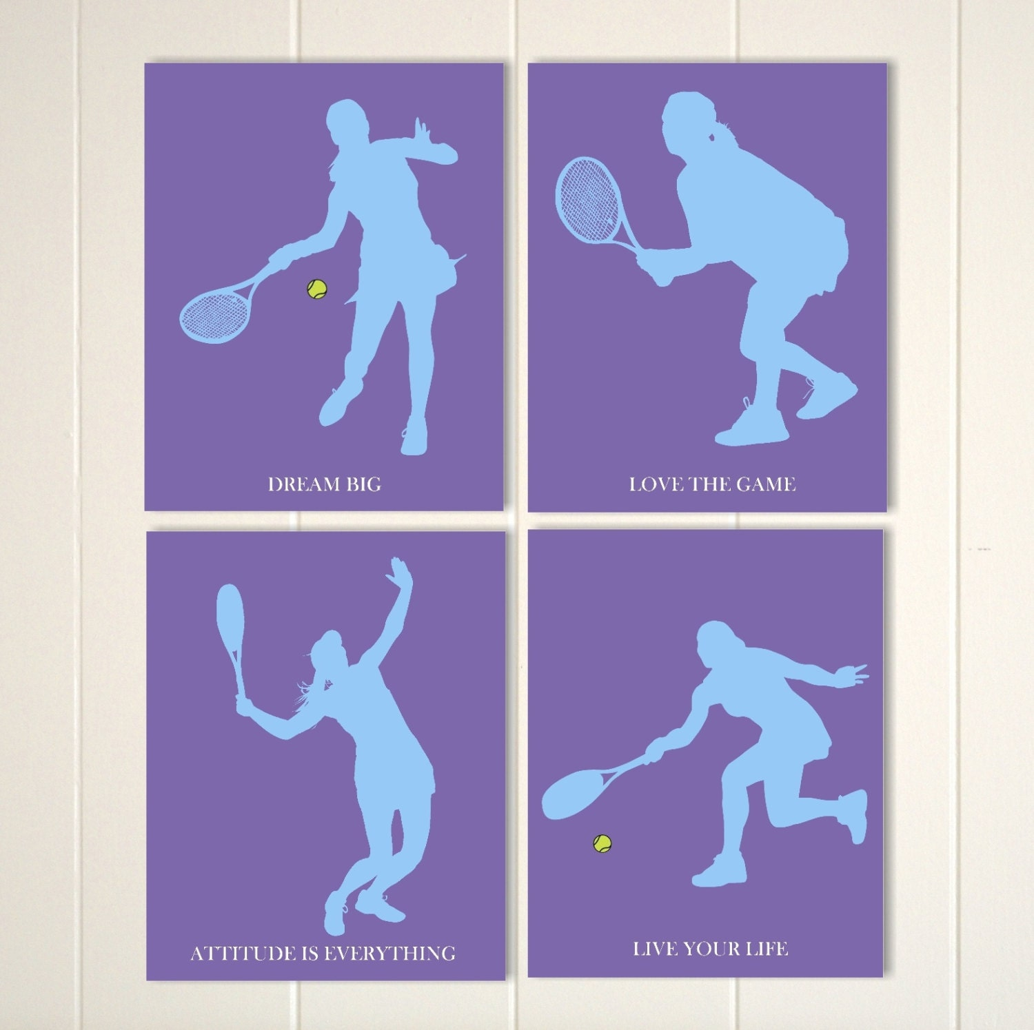 Tennis Girl Wall Art Room Decor Teen