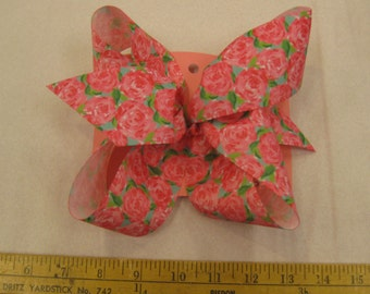 Pink Rose Bow