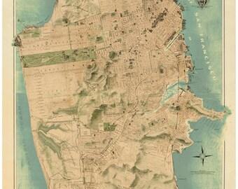 San Francisco 1911 - California Map Reprint -  Chevalier