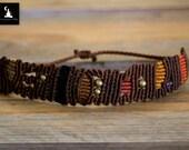 OOAK Unisex Macrame handmade bracelet, abstract Macrame bracelet, unisex jewelry, men's jewelry