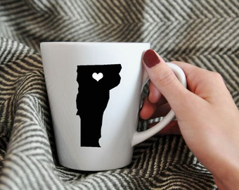 Vermont Mug.  Hometown, Adoption, Travel, Mission, Custom