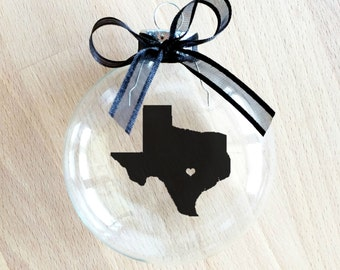 Texas Christmas Ornament, Custom, Travel, USA