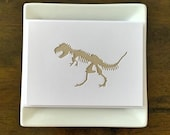 T-Rex card.  Handmade.  Perfect for dinosaur fans young and old.
