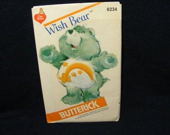 Vintage Care Bears Butterick Pattern, Wish Bear Doll, Care Bears Doll, Sewing Pattern, Care Bear, Butterick Sewing Pattern, Pattern