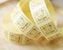 For You Sticker Set (Bear / 16pcs) Seal Sticker - Scrapbooking Packaging Party Gift Wrap Diary Deco Collage Home Decor