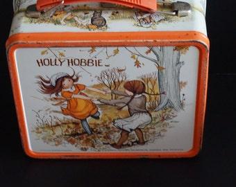 Vintage, Metal Holly Hobbie Lunch Box