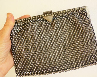 Vintage 1950s bag evening bag diamante provenance Indian aristocrat