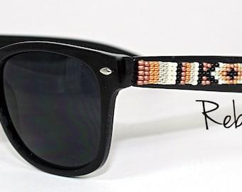 Hand Beaded Sunglasses Broze Beauty Wayfarer
