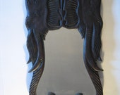 Hand Carved Wooden Elephant Mirror from Thailand