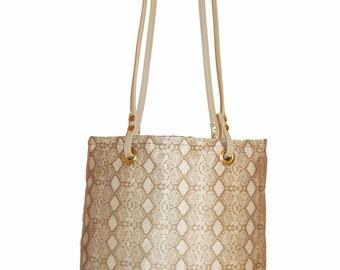 Snakeskin Tote Bag