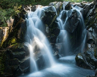 Paradise River Falls Image, waterfall photo, Landscape image